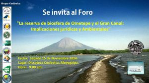 Foro en Ometepe sobre el canal