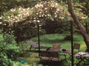 Gartenbild auf der Traueranzeige von Franz