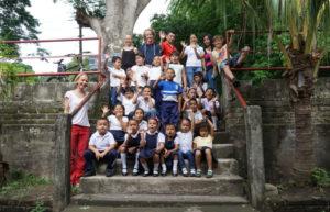 Estudiantes de la Escuela »La Esperanza« en Santo Domingo, Ometepe