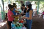 Das Büffet mit den Speisen für die Workshopteilnehmer