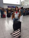 Elisabeth Alberts vor dem Abflug nach Nicaragua