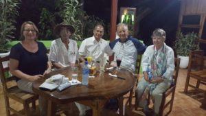 Empfang der deutschen Gäste Pfr. i.R. Horst Ostermann mit seiner Frau Heike durch unser Projektpartner Sonja Kofler, Dr. JorgeQuintana und Alcides Flores